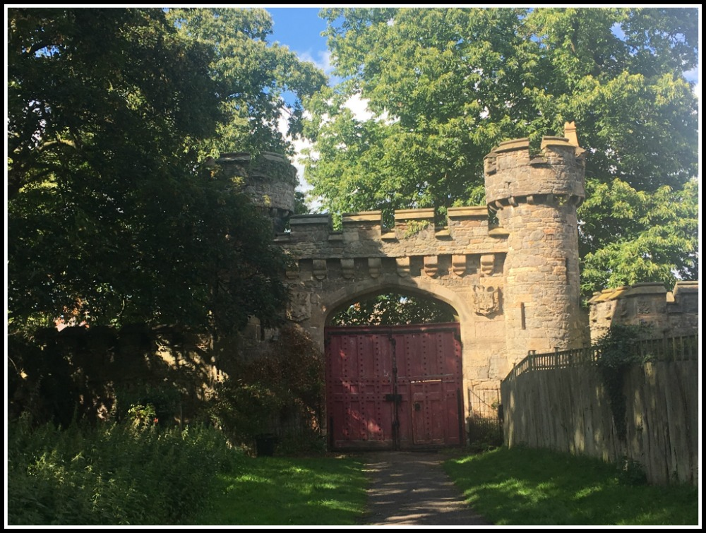 Gateway to Hawarden Estate and woods near Gladstone's Library - North Wales