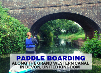 Paddle Boarding along the Grand Western Canal in Devon - LifeBeyondBorders