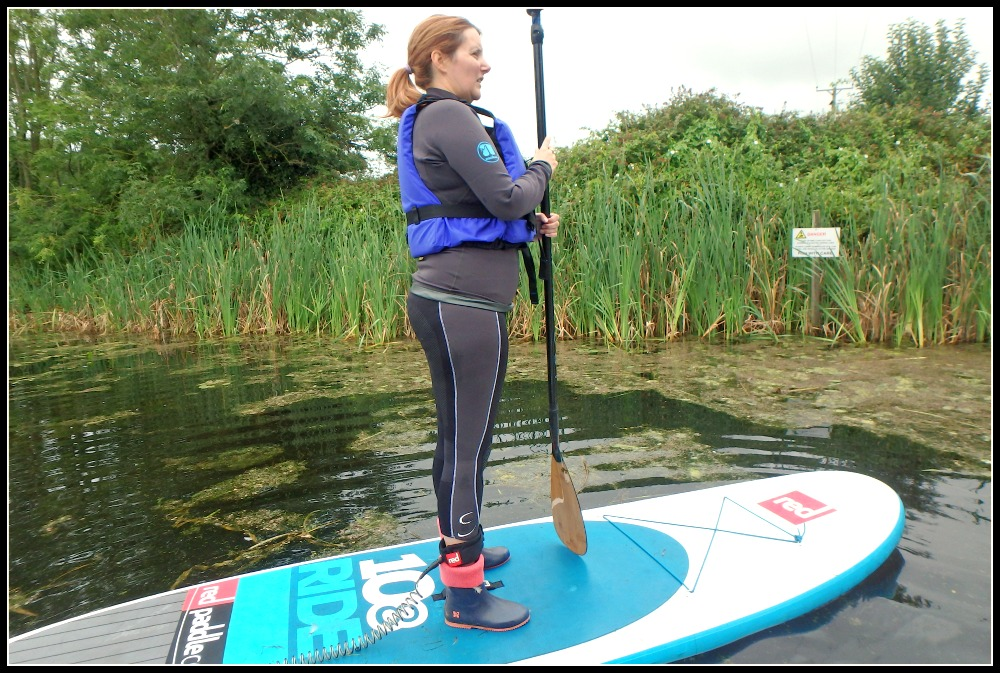 Standing whilst paddle boarding along the Grand Western Canal - Devon - LifeBeyondBorders