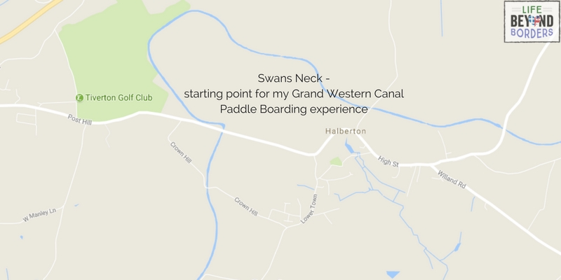 Swan's Neck - the starting point at the Grand Western Canal for LifeBeyondBorder's Paddle Boarding experience