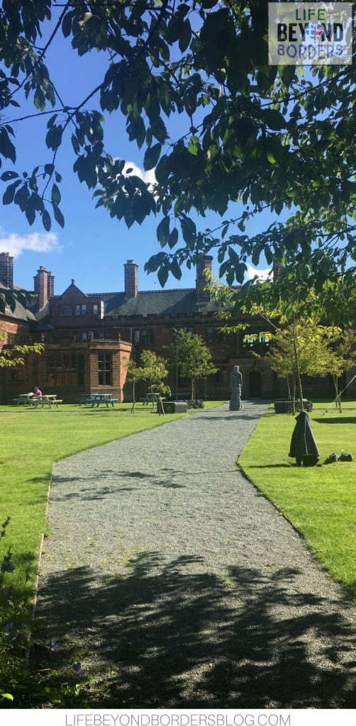 Wandering around the grounds of Gladstone's Library in North Wales
