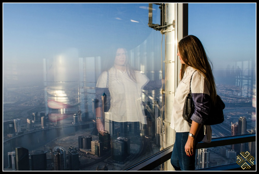 At The Top of Burj 'khalifa sunrise. Image © Elena Sergeeva
