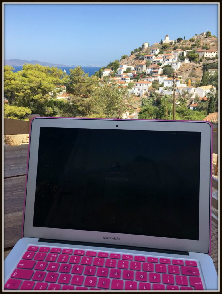 Working view from Nicaela's House- Hydra Island - Greece. Life Beyond Borders