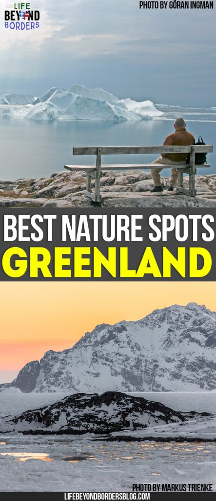"Come and explore the Best Nature Spots in Greenland. Top photo ""<a href=""https://www.flickr.com/photos/bortabra/3867392522/"" target=""_blank"" rel=""noopener noreferrer"">Old man and ice - Ilulissat</a>"" (<a href=""https://creativecommons.org/licenses/by/2.0/"" target=""_blank"" rel=""license noopener noreferrer"">CC BY 2.0</a>) by <a href=""https://www.flickr.com/people/bortabra/"" target=""_blank"" rel=""cc:attributionURL noopener noreferrer"">Göran Ingman</a> and bottom photo <br /> ""<a href=""https://www.flickr.com/photos/mtrienke/34327224014/"" target=""_blank"" rel=""noopener noreferrer"">East Greenland after sunset</a>"" (<a href=""https://creativecommons.org/licenses/by-sa/2.0/"" target=""_blank"" rel=""license noopener noreferrer"">CC BY-SA 2.0</a>) by <a href=""https://www.flickr.com/people/mtrienke/"" target=""_blank"" rel=""cc:attributionURL noopener noreferrer"">Markus Trienke</a>"