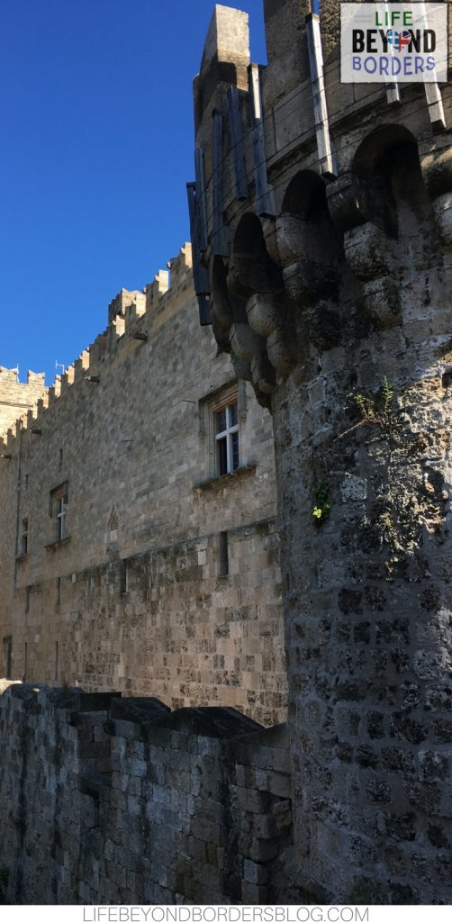Castle and walls of Rhodes Old Town - Greece. Life Beyond Borders