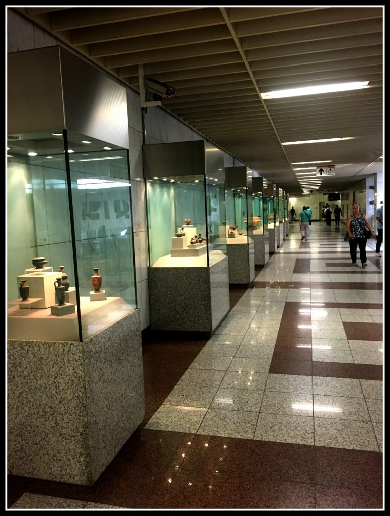 Etiquette in Greece - Artefacts inside the Athens metro - LifeBeyondBorders
