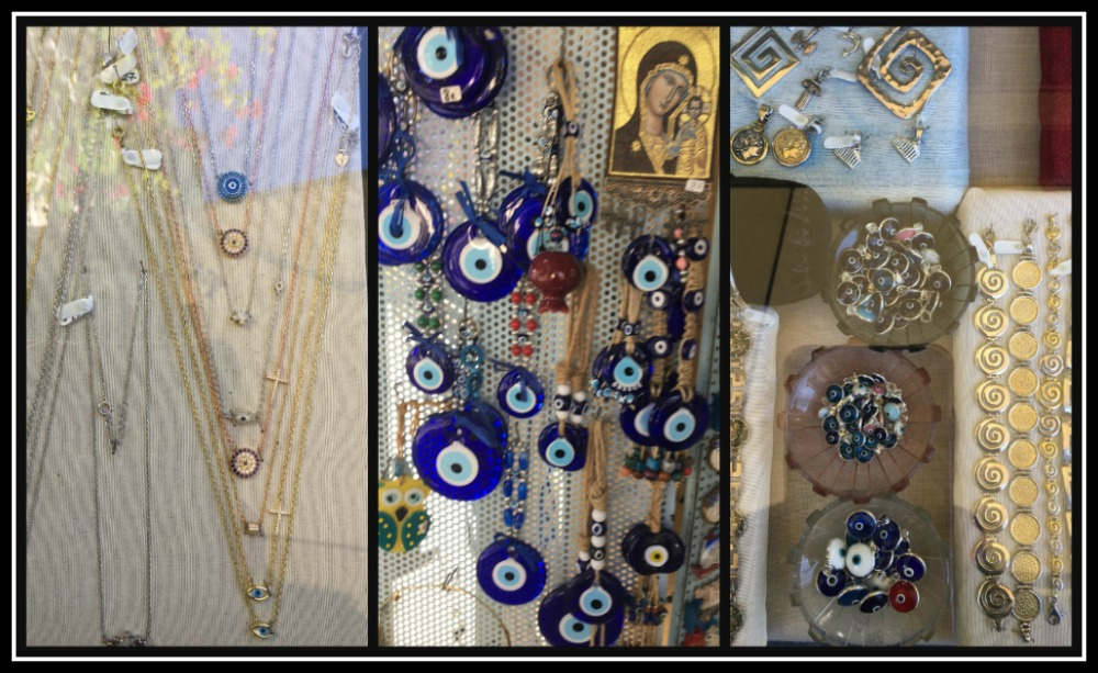 Collection of Mati - Greek Evil Eye - souvenirs: jewellery, pendents. Great Greek souvenirs - LifeBeyondBorders