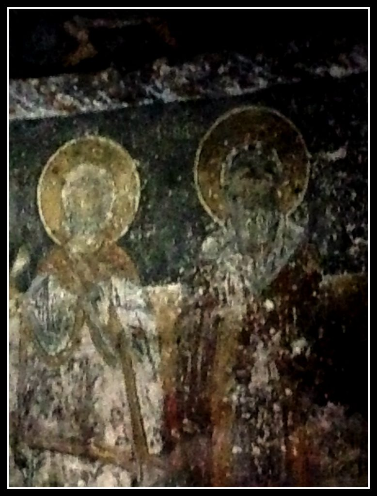 Ancient Frescos in St John's Chapel - Mount Parnassos - Greece