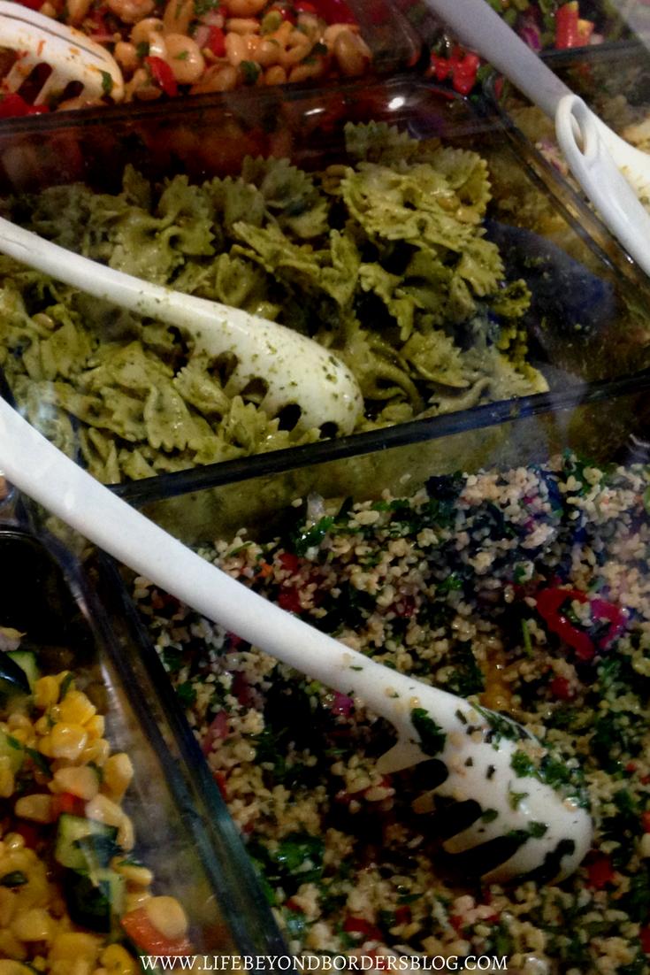 Top Things to Eat & Drink on Mykonos - salads at Kiki's Taverna - LifeBeyondBorders