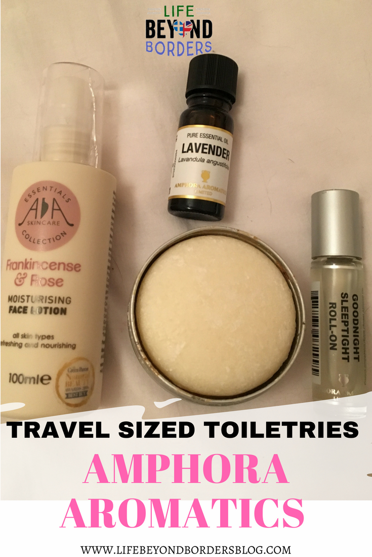 Travel sized toiletries - Amphora Aromatics - LifeBeyondBorders