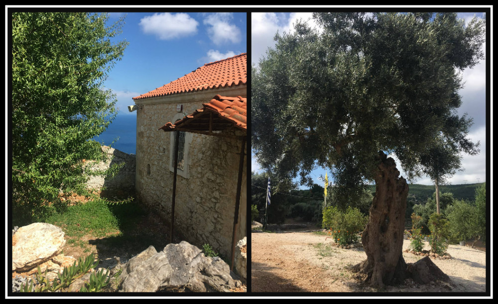 Beautiful views and peaceful environment at St. Nicholas Monastery on Lefkada island - Greece