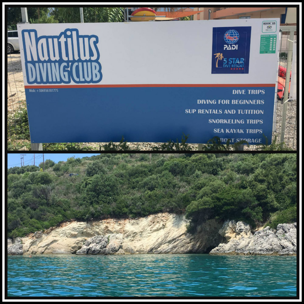 Nautilus Diving centre on Lefkada island, Greece