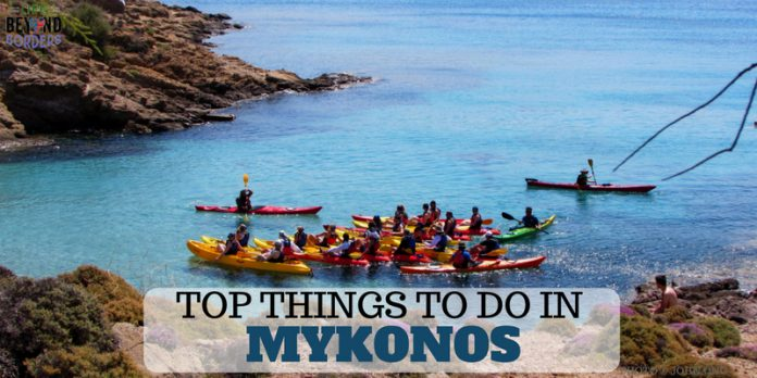 Top Things to do in Mykonos - go sea kayaking