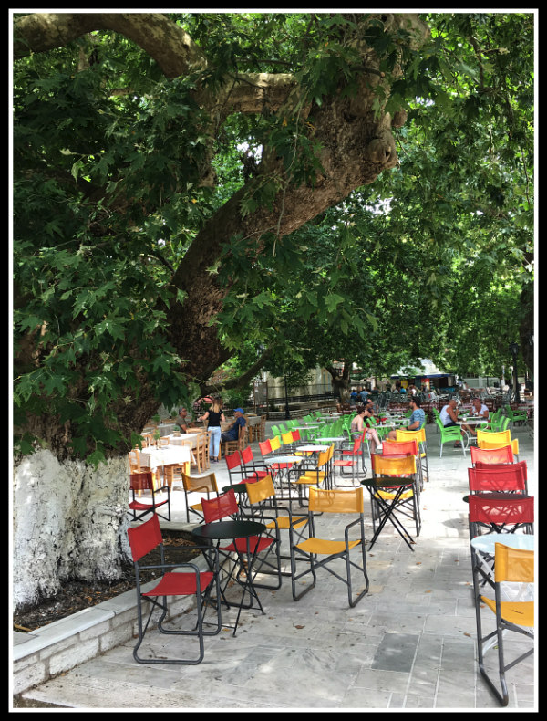 Karya Square - under the ancient plane trees - Lefkada island - Greece
