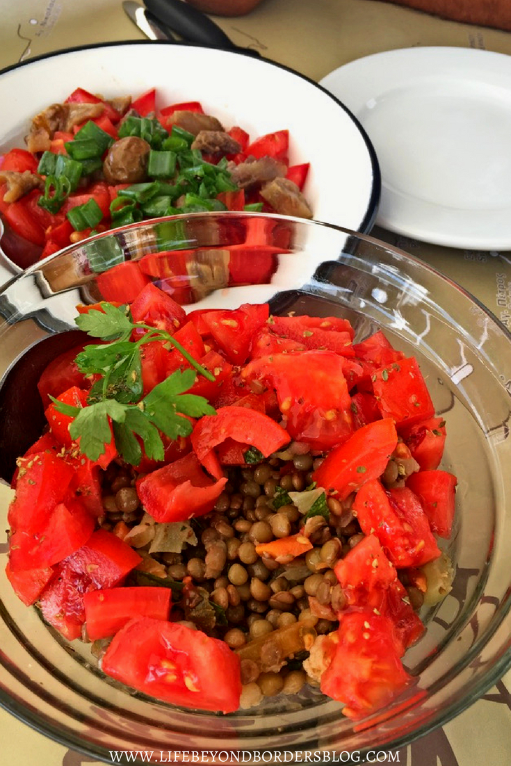 Lentil Salad - Traditional Dish of Lefkada - Greece