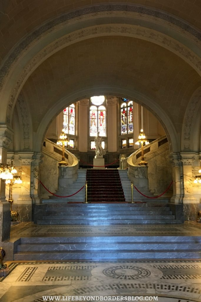 Magnificent entrance to the Peace Palace - The Hague, Netherlands