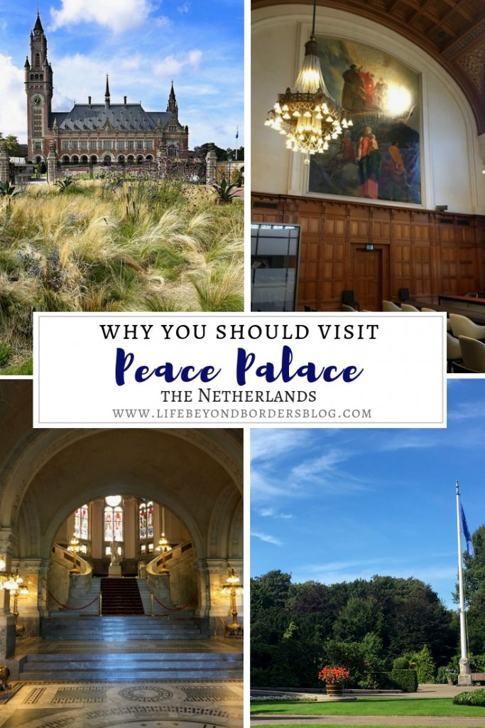 Visiting the Peace Palace in The Hague,  Netherlands