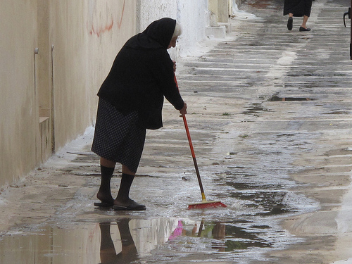 rain in greece photo