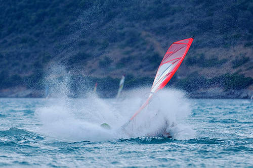 windsurfing greece photo
